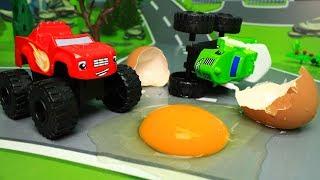 Мультики про машинки. Игрушки Вспыш и чудо машинки Яйцо динозавра! Мультфильмы для детей Новые серии