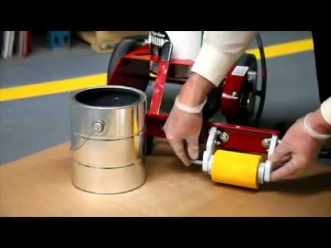 The <strong>RollMaster™ 1000 Line Painting Machine </strong>features: <strong>Economical</strong> - Get rid of those expensive, clog prone aerosol stripers. Use the <strong>RollMaster™ 1000 Line Painting Machine</strong> with economical 1-gallon cans of bulk paint for perfect lines every time.(Not for use with fast dry paint) <strong>Easy to Use</strong> - So simple you can do a great striping job your first time out. Foolproof tubing squeeze pump delivers paint from standard paint can directly to the foam roller. It is light weight and easy to handle. <b>Fold-able</b><strong>Handle</strong> -The folding handle makes it easy to transport the machine between fields in car trunk or SUV. <strong>Safe</strong> - This line striping machine as doesn't have a dangerous engine, high pressure pumps & hoses or explosive aerosol cans. <strong>Quiet & Clean</strong> -No engine or compressor noise, harmful fumes or over spray. Stripe inside or out anytime day or night. Plus, with no over spray you can stripe within 2 inches of cars, walls or other obstacles. <strong>Fast Clean up</strong> - Clean up is quick and easy. Simply rinse roller mandrel and tubes. Rollers can be disposed of after use. Shop the RollMaster™ 1000 and much more line painting equipment at Newstripe.