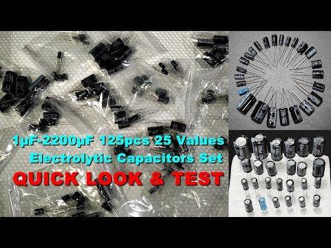 Quick Look and Testing of 125pcs 25 Values JWCO Electrolytic Capacitors Set