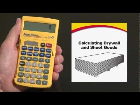 Material Estimator - Calculating Drywall