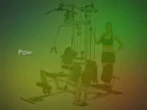 Powerline Home Gym with Leg Press, Grey Black