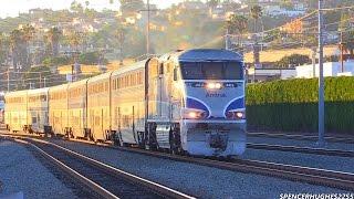 Amtrak Train ride from San Juan Capistrano to San Diego + BNSF & Coaster Trains (August 16th, 2014)