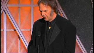 Neil Young Inducts Paul McCartney into the Rock and Roll Hall of Fame inductions 1999