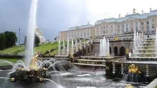 Большой Каскад фонтанов в Петергофе