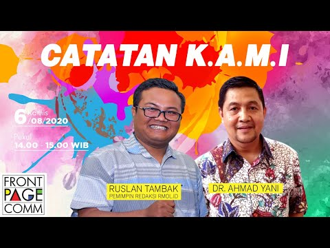 FRONT PAGE | CATATAN KAMI, Dr Ahmad Yani