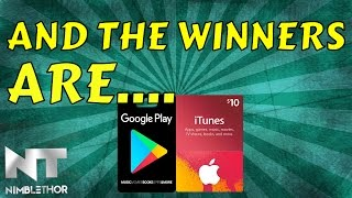 Winners of the 100 Subscriber GIVEAWAY!