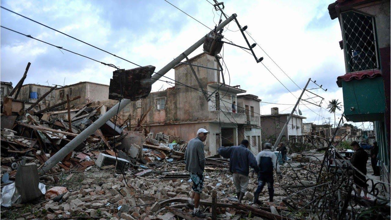 Разрушительный торнадо на Кубе