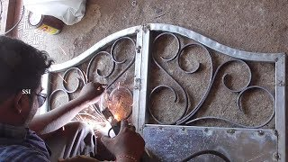 IRON Gate Design Making With Welding Roods | Iron Gates Designs Gallary New Models For House