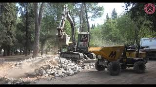 Radovi na izgranji šetališta uz rijeku Moraču i radovi na adaptaciji Njegoševog parka, 10.09.2021