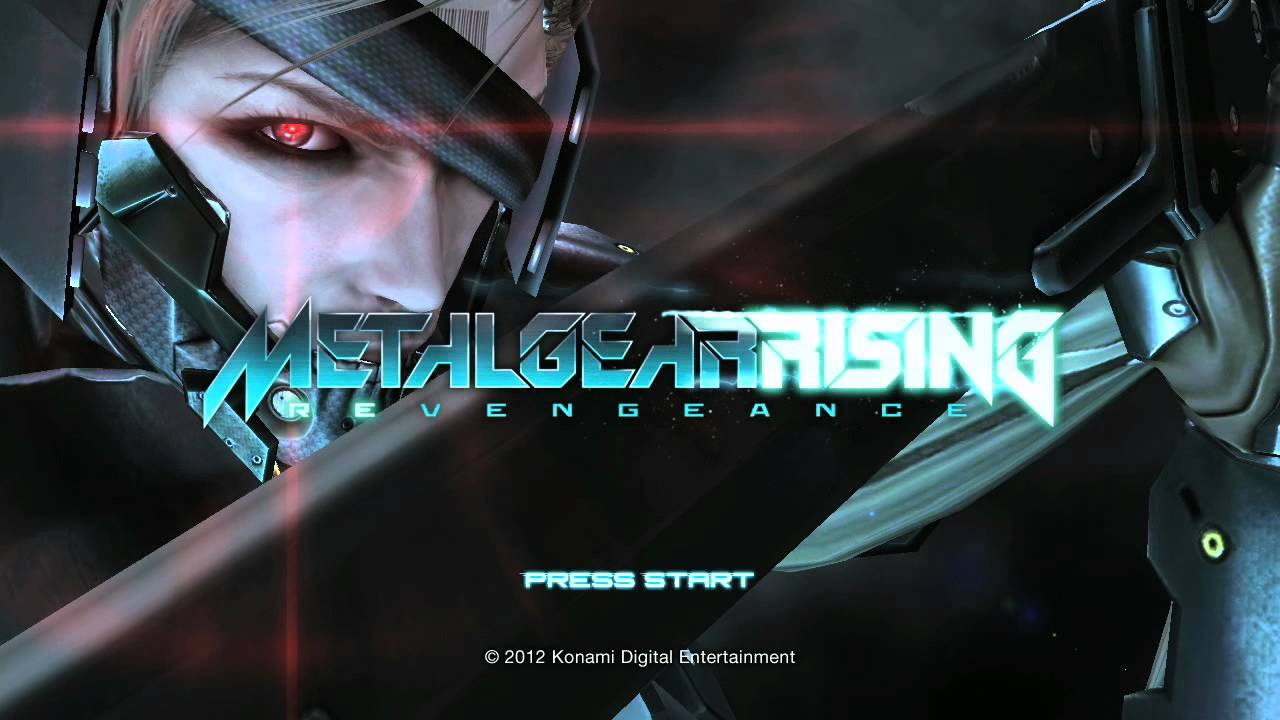 Metal Gear Rising's Title Screen Is Better Than All Those Live Action Trailers Combined