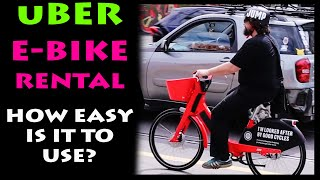 JUMP BIKES - e-bike rental on uber arrive in Melbourne - We test them for ease of use.