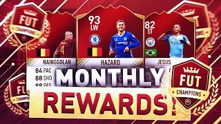 OMG ELITE MONTHLY PACKS AND A WALKOUT!! FIFA 17 FUT CHAMPIONS WEEKEND + MONTHLY REWARDS