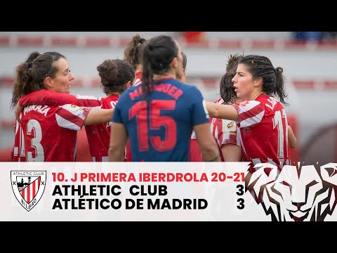 ⚽ RESUMEN I Athletic Club 3-3 Atlético de Madrid I J10 Primera Iberdrola 2020-21 I Laburpena