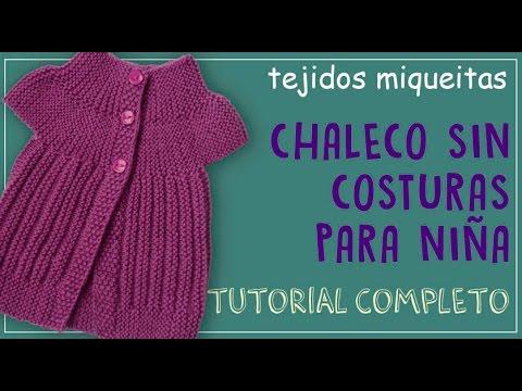 Cómo tejer un chaleco sin costuras para niña
