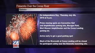 Firework Display to be Held over Coosa River in Gadsden