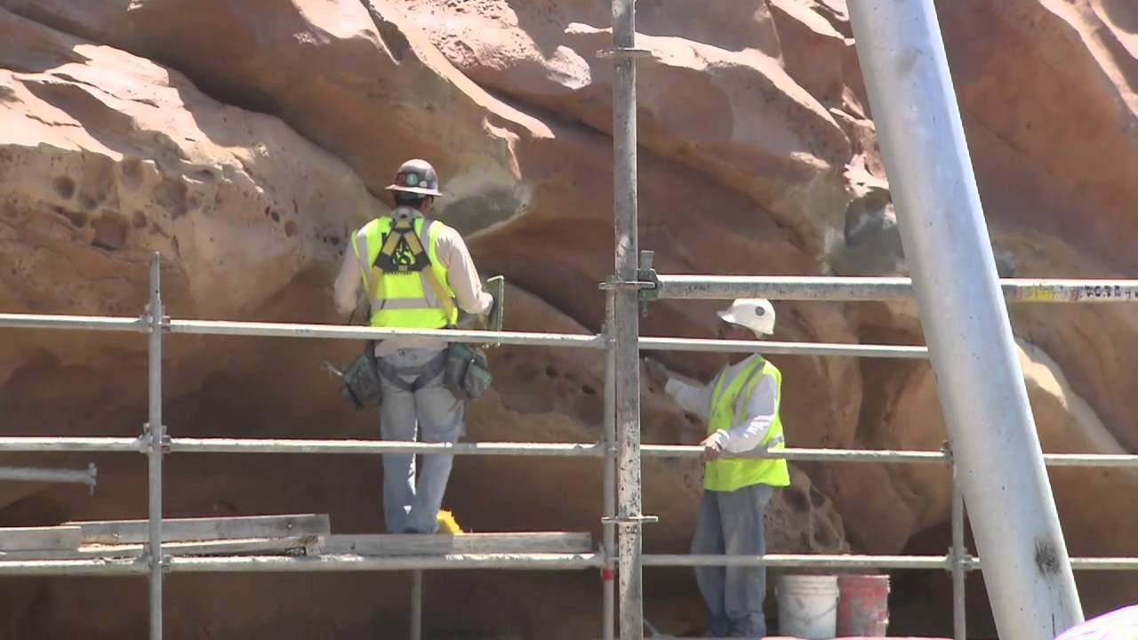 Behind the Fantasyland construction walls