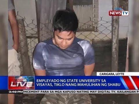 [GMA]  NTVL: Empleyado ng state university sa Visayas, tiklo nang mahulihan ng shabu