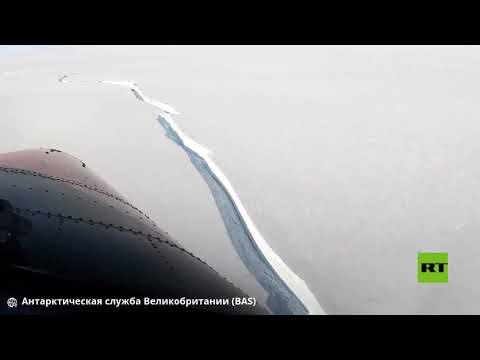 العرب اليوم - شاهد: قطعة جليدية تنفصل عن القارة القطبية الجنوبية