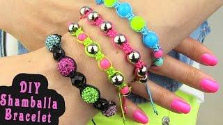 DIY Shamballa Bracelet! How To Make Macrame Bracelets