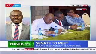 Kenyan Senate reconvenes to discuss how to curb heath crisis