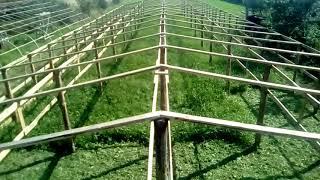 Коснтрукция будущей деревянной теплицы видео