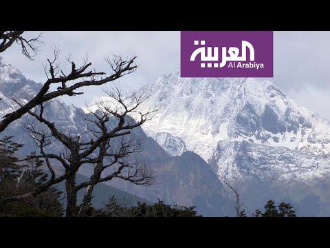 العرب اليوم - شاهد: أشوايا تتمتع بالموسم الأول للتزلج في أميركا الجنوبية