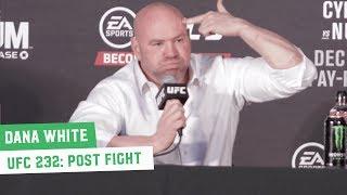 UFC 232 Post Fight Press Conference: Dana White