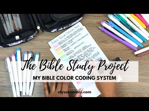 MY BIBLE COLOR CODING SYSTEM | THE BIBLE STUDY PROJECT
