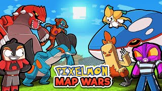 Ruby vs Sapphire - PIXELMON MAP WARS! (Minecraft)