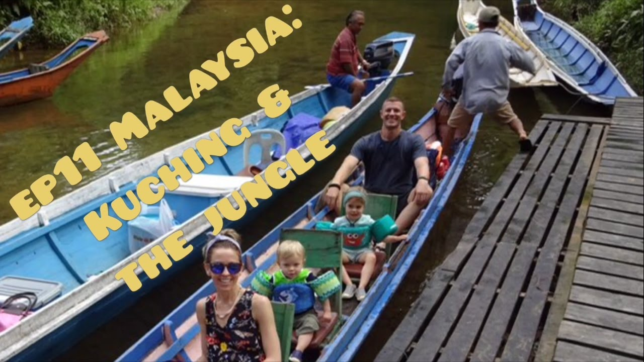 Ep11: Toddlers exploring the Jungle in Borneo, meeting an Iban Tribe AND Saw Orangutans in Kuching!