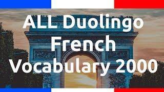Learn ALL Duolingo French Vocabulary 2000 + Alpha