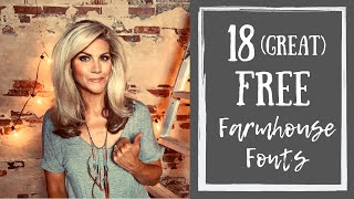 18 Favorite Farmhouse Fonts
