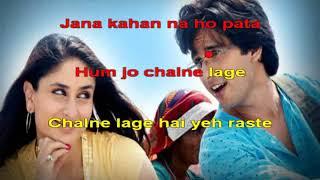 Aao Mile Chalo Jab we met 2007 Hindi Karaoke   - YouTube