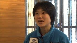 国際スキー大会ジャンプ伊藤有希桜餅で笑顔大きな舞台を前に一息