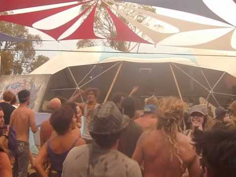 Dov DJing Sunset Stage Rainbow Serpent 2012
