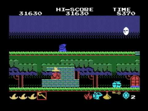 [MSX GAMES] Magical Kid WIZ 魔法使いウィズ ▶2Round CLEAR