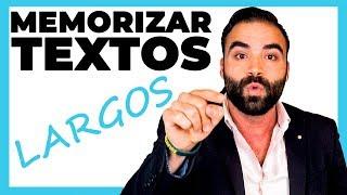 COMO MEMORIZAR TEXTOS LARGOS RAPIDO | Los 4 Pilares para memorizar
