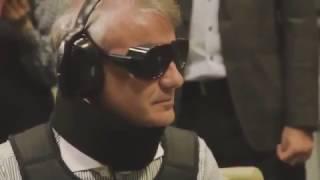 Герман Греф в костюме слепого глухого инвалида проверял работу сбербанка. Показуха да и только