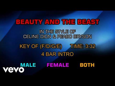 Celine Dion & Peabo Bryson - Beauty And The Beast (Karaoke)