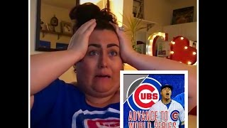 Were Going To The World Series Reaction  CHICAGO CUBS WIN HOLY COW