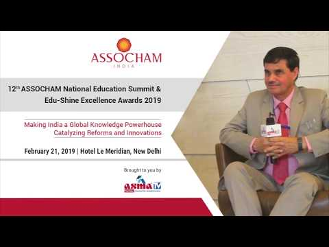Interview of Prof MP Poonia (AICTE) at 12th ASSOCHAM National Education Summit 2019, New Delhi