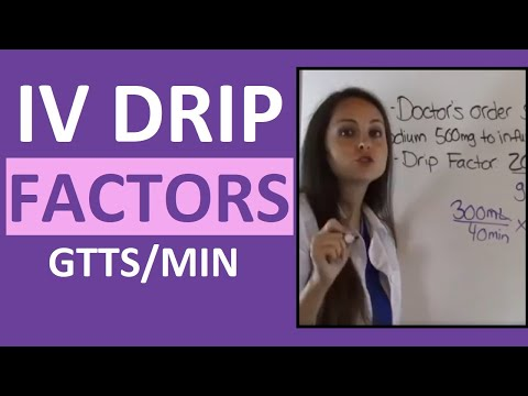 Dosage Calculations for Nursing Students on IV Drip Rate Factors Made Easy (Video 4)