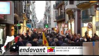 preview picture of video 'Endavant: manifestació per TV3 a Castelló de la Plana'