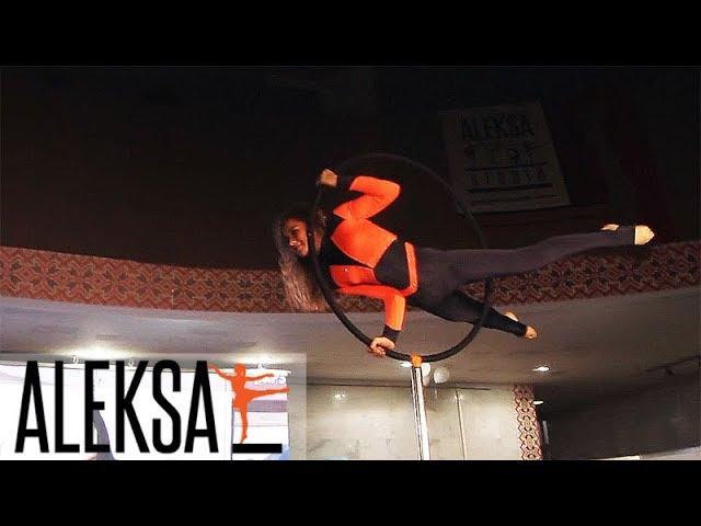 Pole Dance, Пол Денс - воздушное кольцо. Пол Дэнс. воздушная гимнастика.  Мария Грибенко, ALEKSA