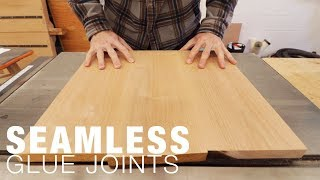How to get flat and seamless panel glue joints -- Jointer Trick