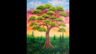 How To Paint A Family Tree In Acrylic ~ Part 1 Of 3