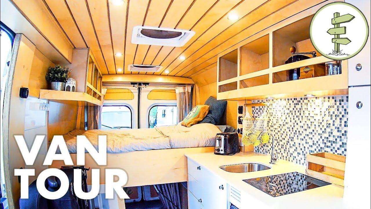 Super Smart Camper Van Design with Lots of Great Ideas! Full Tour