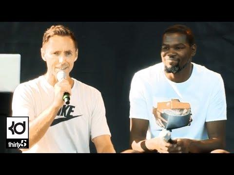 Kevin Durant & Steve Nash Q&A At Nike Campus