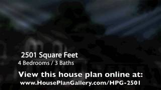 European House Plans - HPG-2501-1 By House Plan Gallery