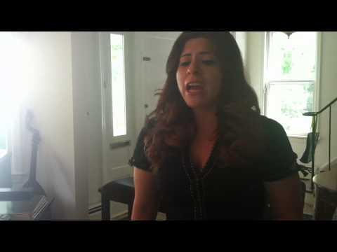 Singing a Bellini Aria